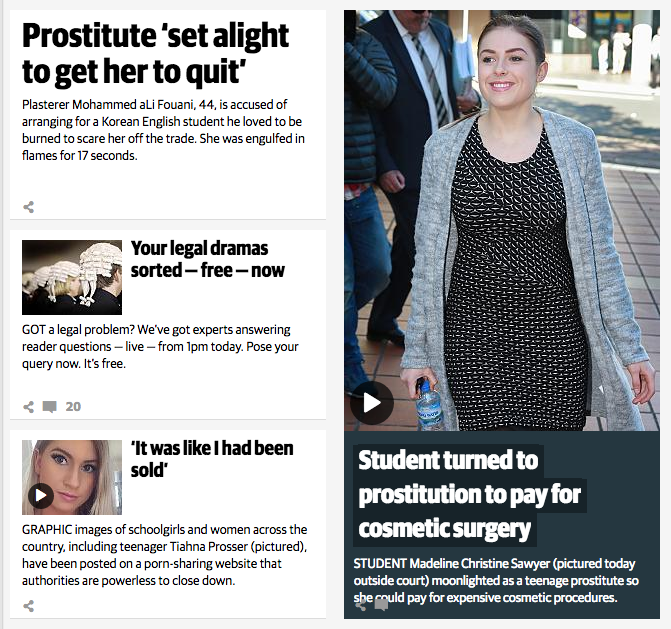 The Daily Telegraph's home page this afternoon.