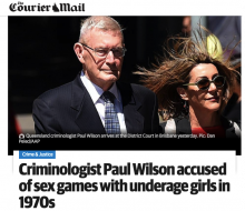 "Courier Mail headline: ""sex games"""